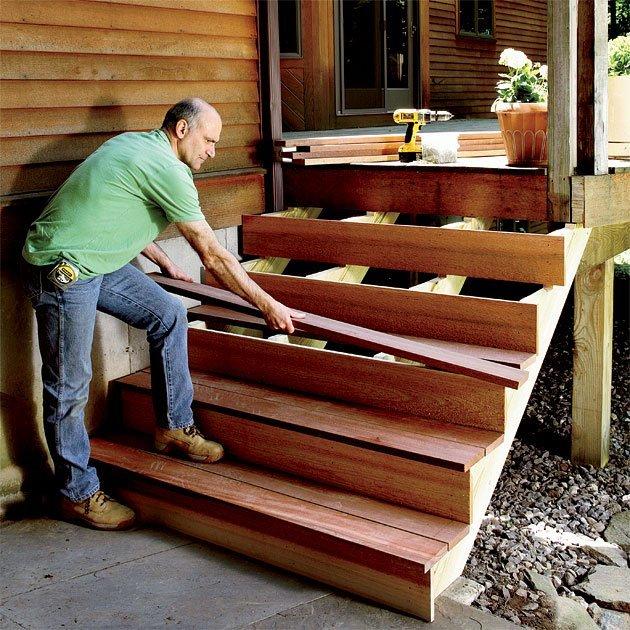 Ступени для лестниц своими руками