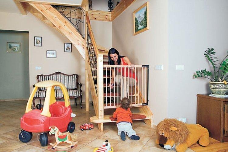 Барьер калитка для домашней лестницы - ворота безопасности для детей