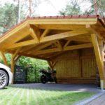 Деревянынй козырек перед гаражом