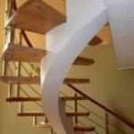 Лестница на бетонном косоуре эвольвентном