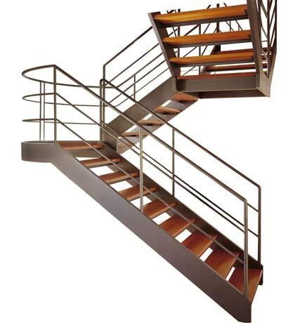 Металлическая маршевая лестница фото