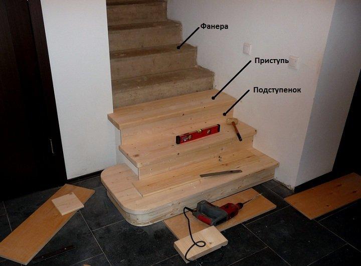 Обшиваем лестницу своими руками