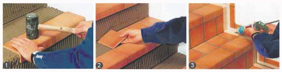 Отделка лестницы плиткой своими руками