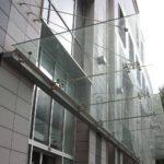 Консольынй стеклянный навес фото