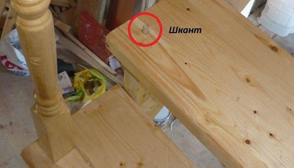 Установка деревянных перил