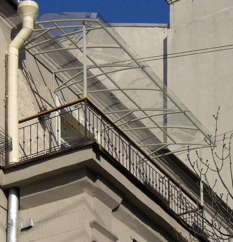 Как сделать крышу над балконом..
