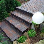 Садовая лестница из керамической плитки фото