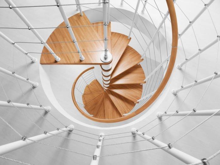 Форма ступени винтовой лестницы