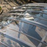 Навес из прозрачного монолитного поликарбоната
