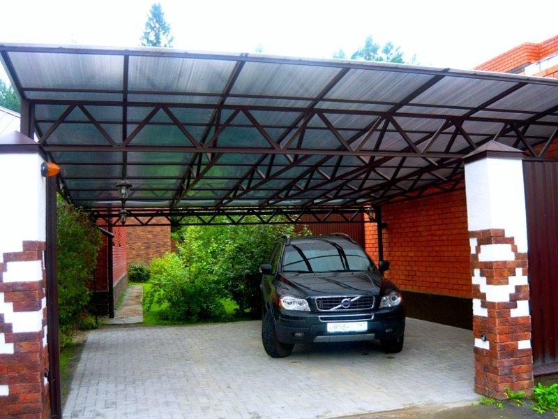 Навес из поликарбоната для машины