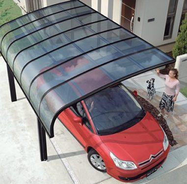 Автомобильный навес из поликарбоната