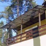 Кровля балкона поликарбонатом