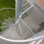 Металлическая спиральная лестница