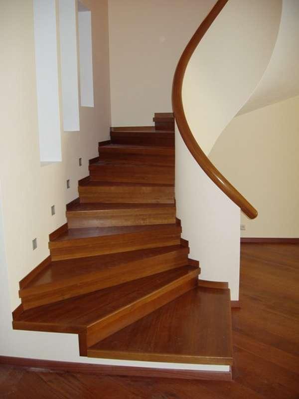 Облицовка бетонной лестницы ламинатом