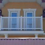 Ограждение из ПВХ для балкона