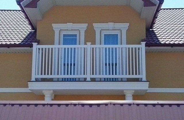Ограждения из пвх для балконов.