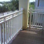 Перила для балкона из ПВХ