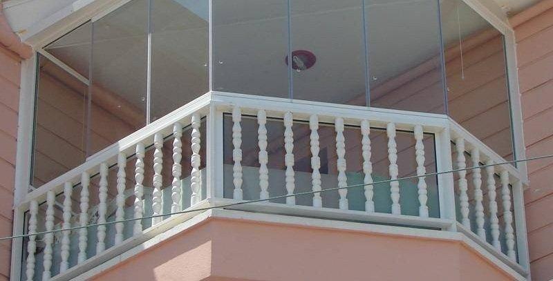 Полимерное ограждения для балкона