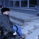 Стационарный бетонный пандус для инвалидов