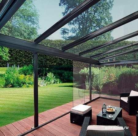 Крыша веранды из прозрачного поликарбоната