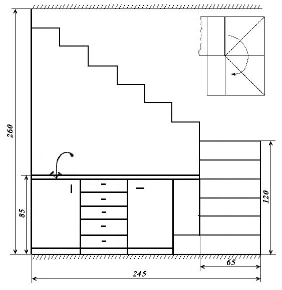 Как оформить место под лестницей фото