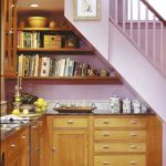 Кухня под лестницей на даче