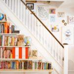 Пространство под лестницей - фото библиотеки
