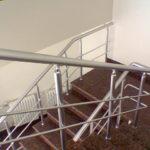 Алюминиевые перила для лестницы фото