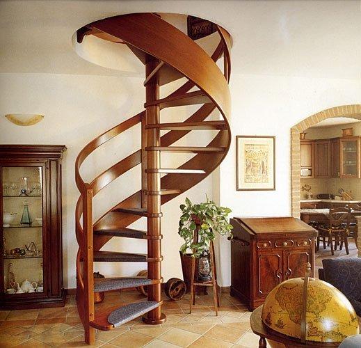 Как сделать деревянную винтовую лестницу фото