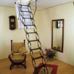 Раздвижная лестница на чердак фото