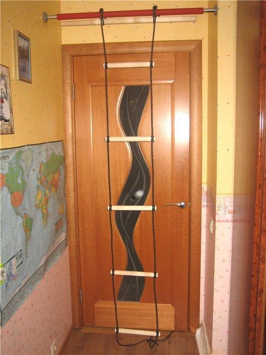 Веревочная лестница для дома
