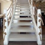 Канатыне перила лестницы фото