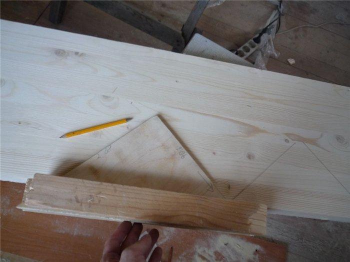 Как разметить косоур деревянной лестницы фото