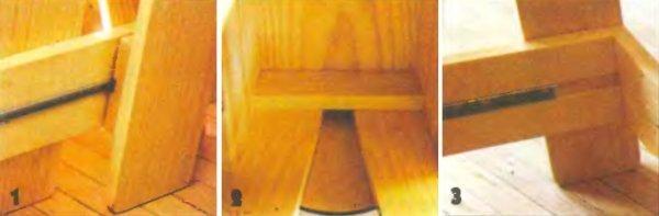 Табурет-стремянка из дерева фото