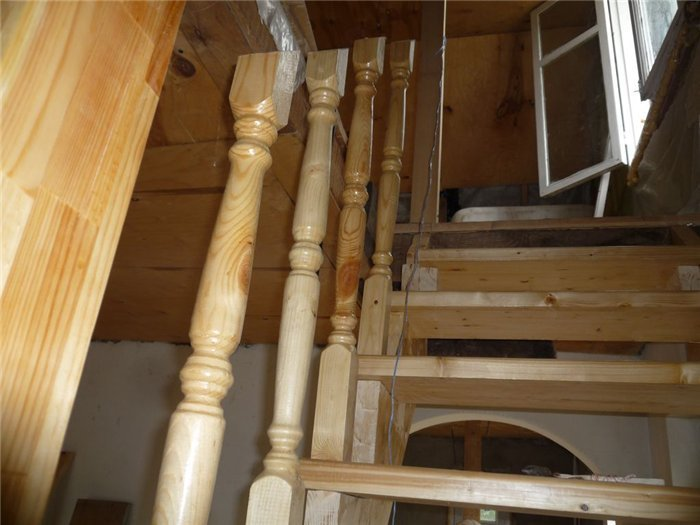 Установка деревянных балясин своими руками фото