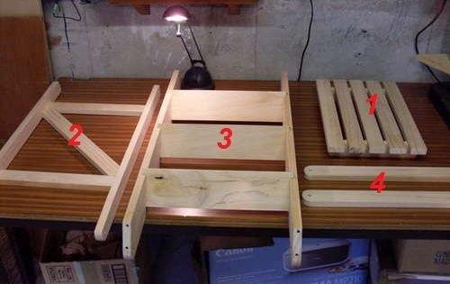 Комплектующие для деревянной лестницы-стремянки фото