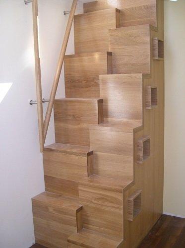 Гусиная лестница из дерева фото