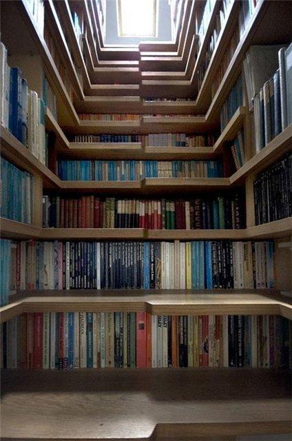 Лестница самба с книгами фото