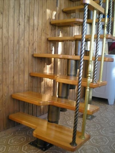 Модульная лестница гусиные лапки фото