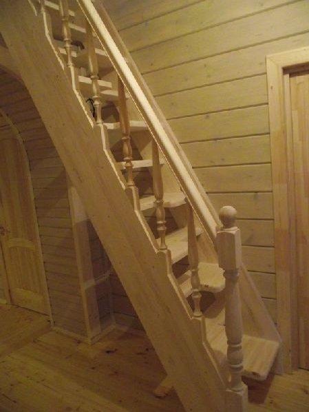 Лестница своими руками с утиным шагом