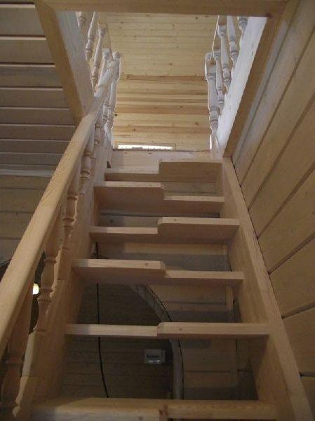 Размеры лестницы утиный шаг