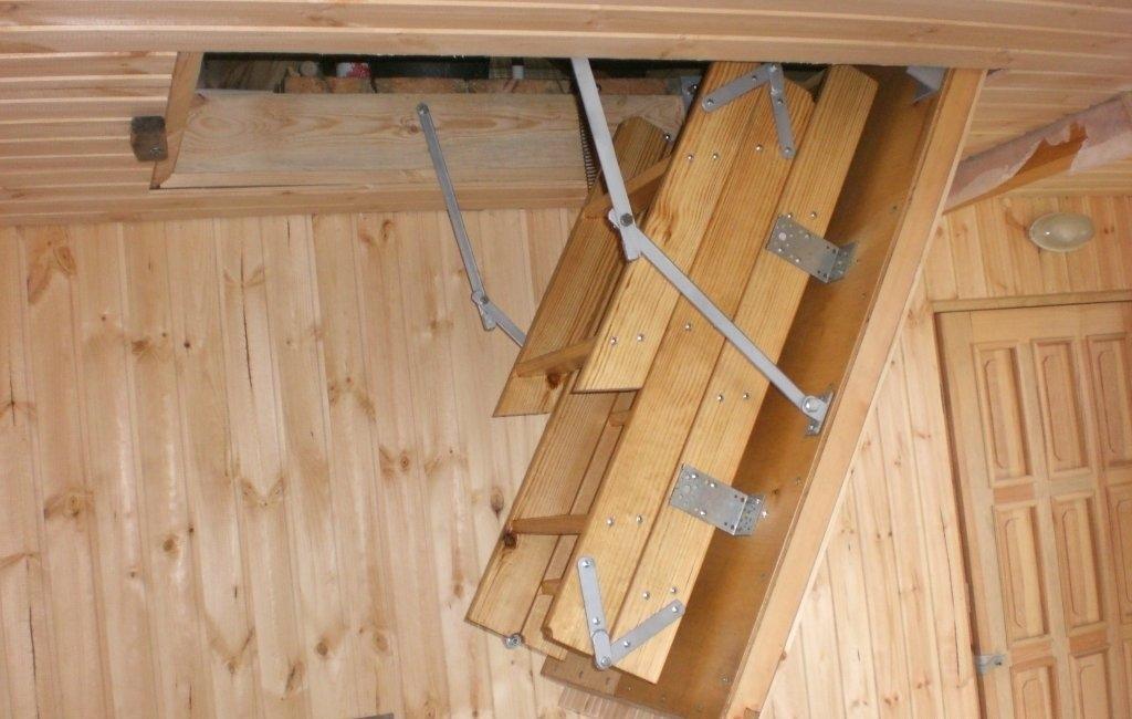 Складная лестница на чердак своими руками — способы изготовления