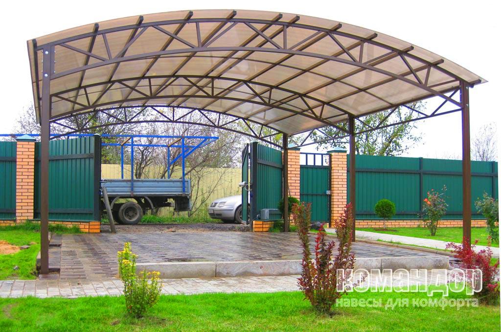 Устройство навеса из поликарбоната — конструкция каркаса