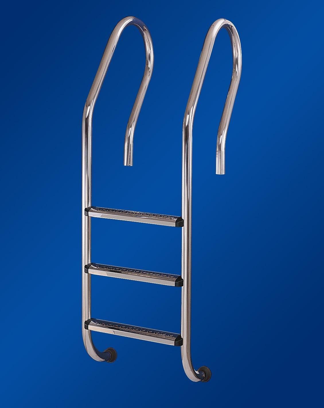 Односторонняя металлическая лестница для бассейна