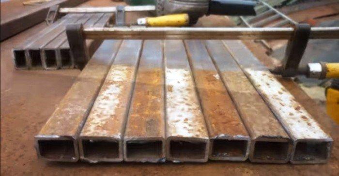 Перекладины для лестницы из профильной трубы